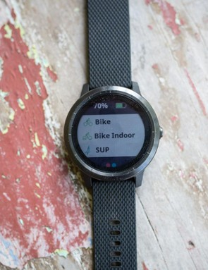You can customise which activity modes the watch shows