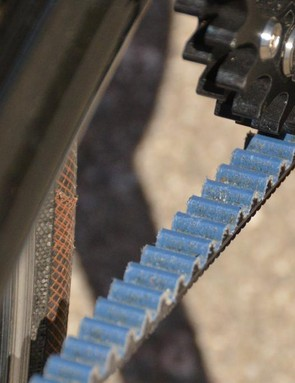Belt drives are claimed to last over twice as long as a chain and do not require lube