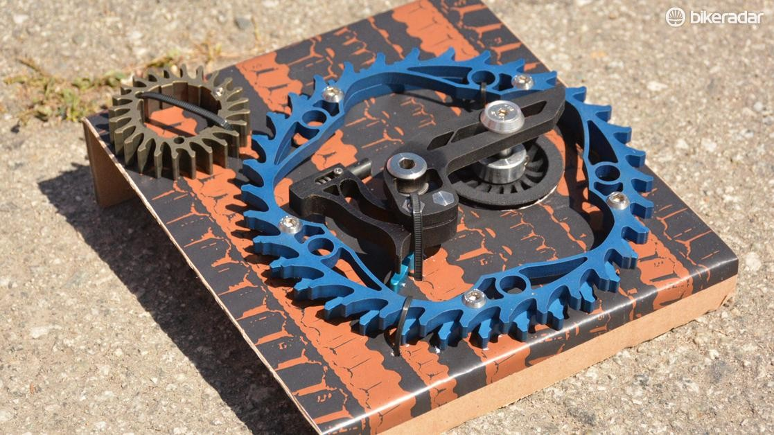 Veer's M1 kit includes a custom-sized belt, front ring, rear sprocket and tensioner