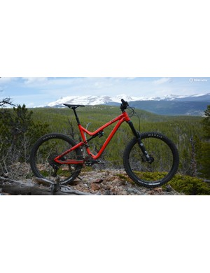 Commencal's Meta AM V4.2 Essential in its natural terrain high in the mountains