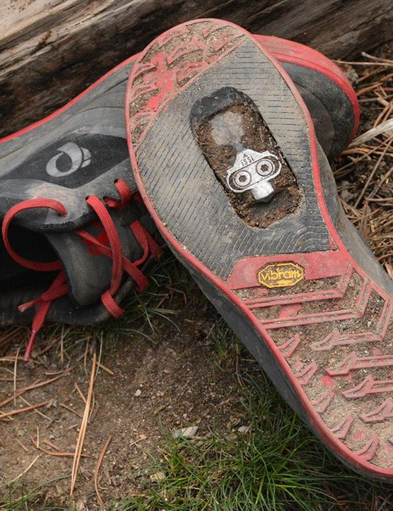 A Vibram outsole keeps off bike walking and hiking a non-threatening proposition
