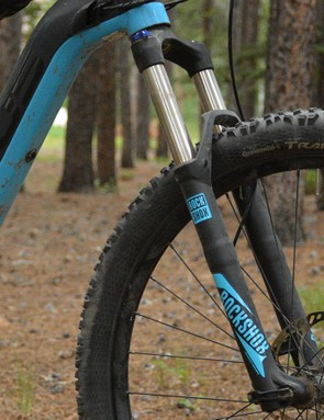 The RockShox Recon fork is an obvious cost-cutting measure