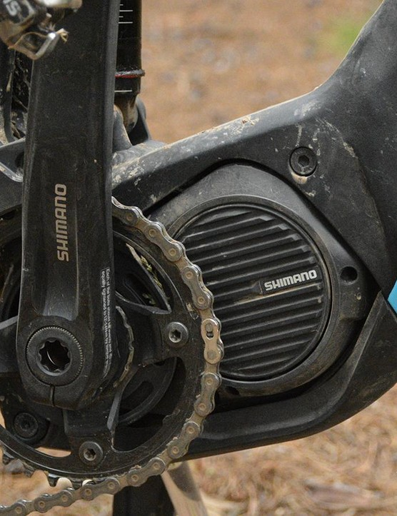 Shimano's Steps motor is a mid-drive unit with 250 watts of power