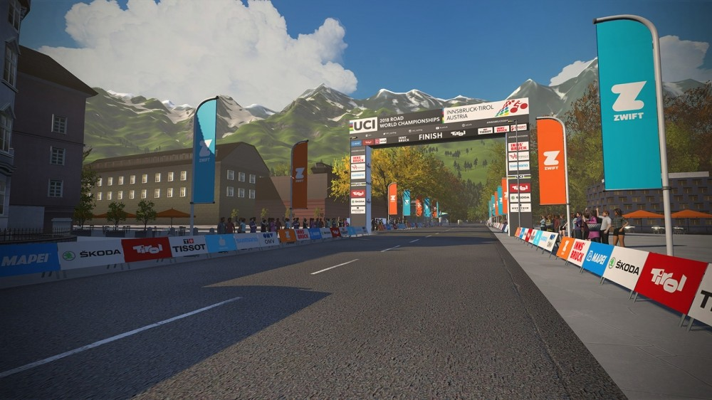 Zwift has added the Innsbruck Road World Championship course to its lineup