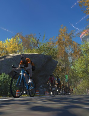 You can ride the familiar paths in Central Park too