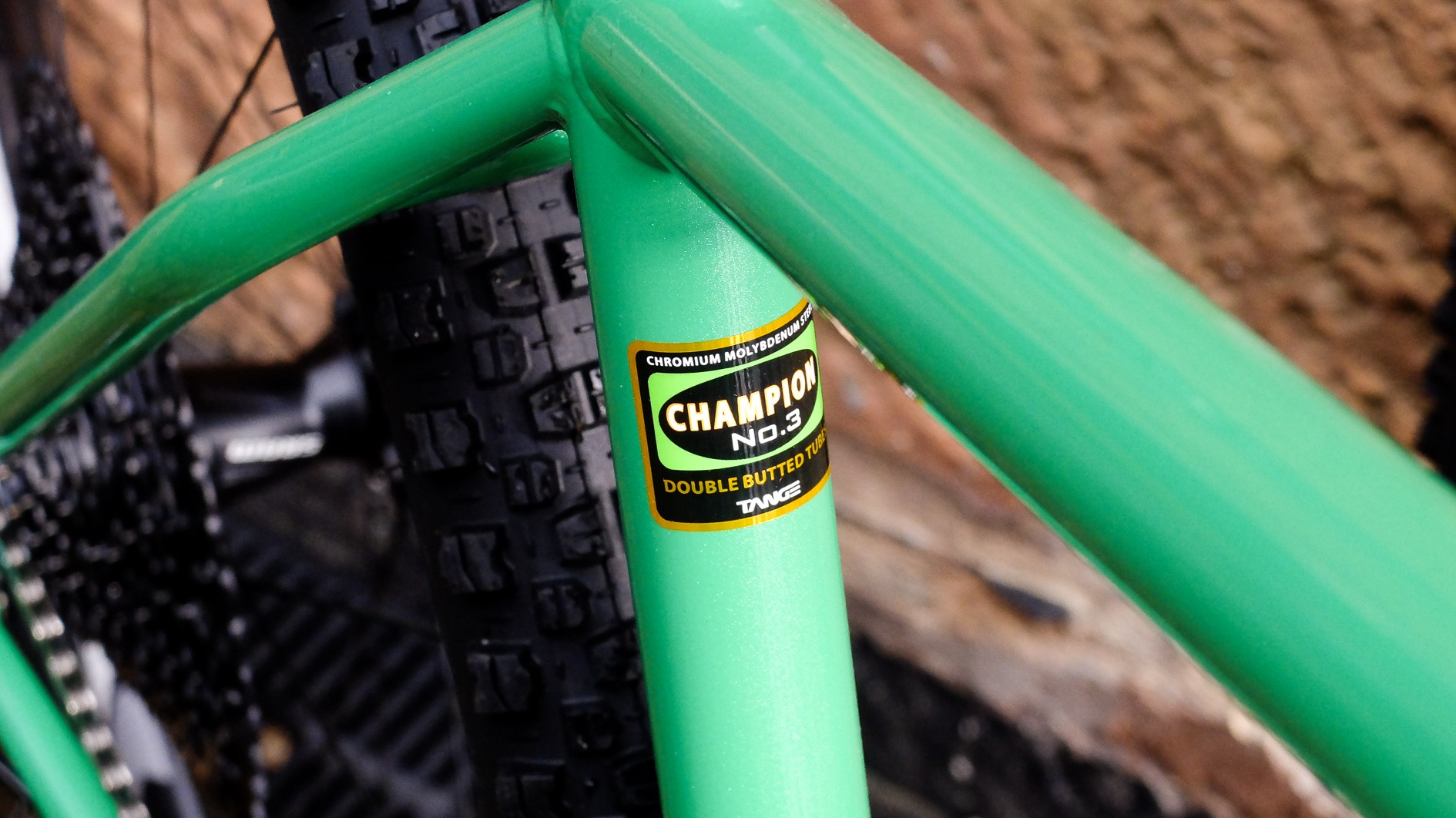 The frame uses Tange Champion tubing