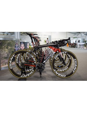 Team Sunweb are all riding Giant's TCR Advanced SL 0 in Adelaide, with none of the new Propel's to be seen