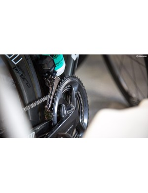 Bora-Hansgrohe where riding a previously unseen Specialized branded power meter