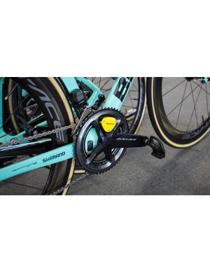 Lotto-Jumbo were using Pioneer meters despite being sponsored by Shimano for components, shoes, kits and sunglasses