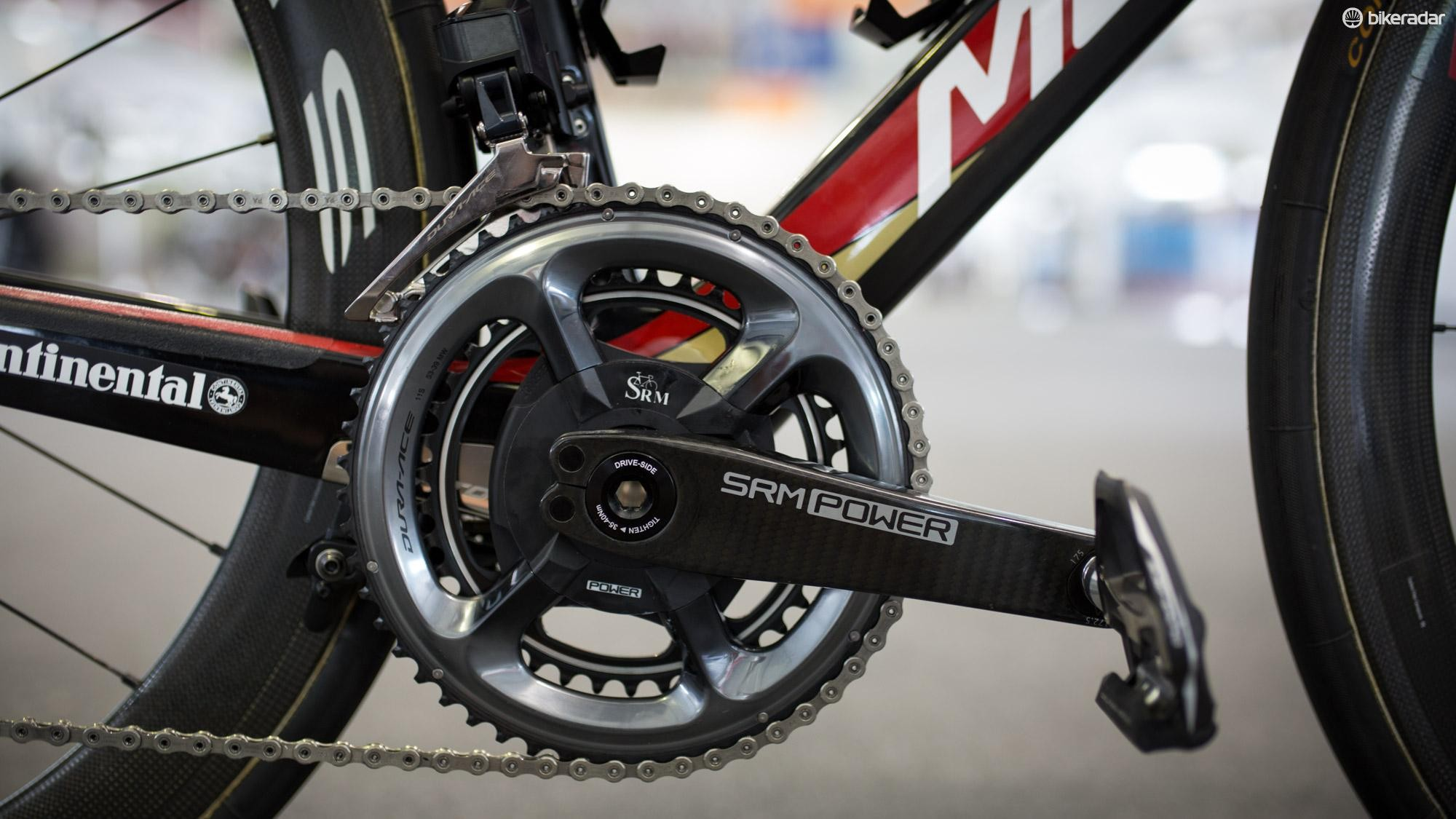 Bahrain Merida riders are using blinged out SRM Origin power meters for 2018