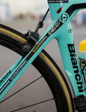 The Dutch team go heavy on the sponsor decals on the classic celeste finish