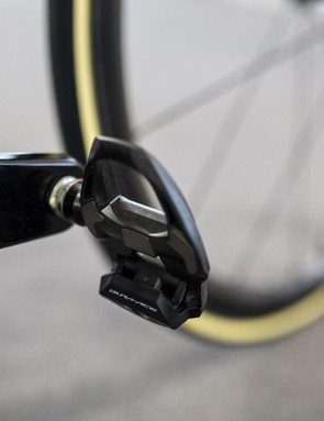 The full Shimano Dura-Ace R9100 series groupset extends to the pedals