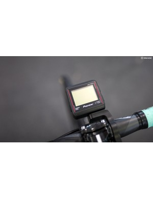 Pioneer power meters are paired with headunits from the same company