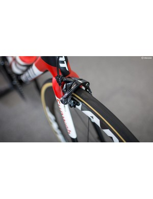 A closer look at the front brake on Arndt's Giant