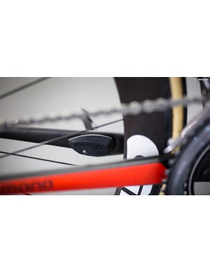 The Giant TCR SL0 has a Giant Ride Sense sensor on the inside of the chainstay