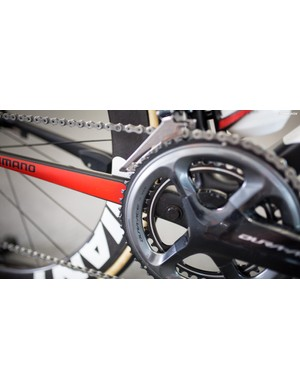 Arndt is equipped with 54/39 chainrings for the Tour Down Under