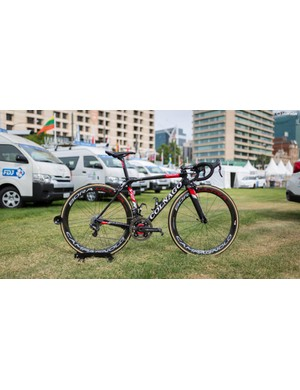 UAE-Team Emirates' Colnago V2-R with Campagnolo Super Record EPS and Bora Ultra wheels