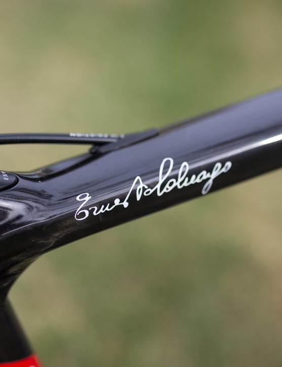 Ernesto Colnago puts his name on the majority of his frames