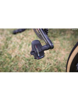 One of the few non-Italian components are the Look Keo Blade Carbon pedals
