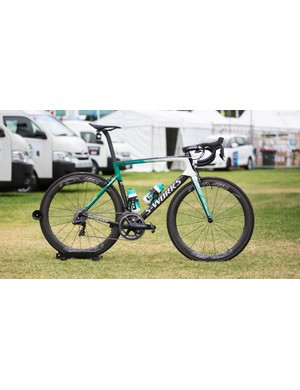 Bora-Hansgrohe's Specialized Tarmac SL6 with Shimano Dura-Ace R9150 and Roval CLX 50 wheels