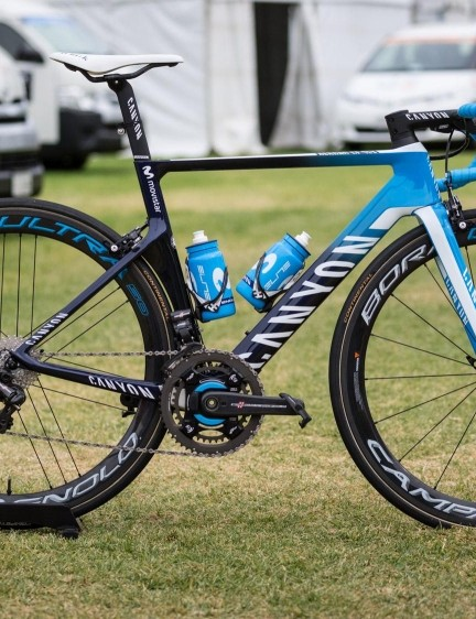 Movistar Team's Canyon Aeroad CF SLX with Campagnolo Super Record EPS and Bora Ultra wheels