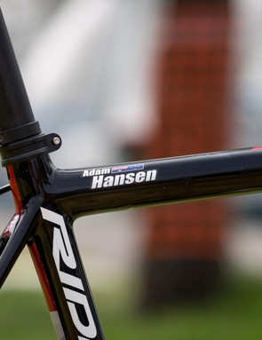 You don't need to see Hansen's name badge to know which bike is his