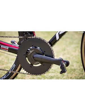 Wait a second; those aren't Campy cranks or chainrings!