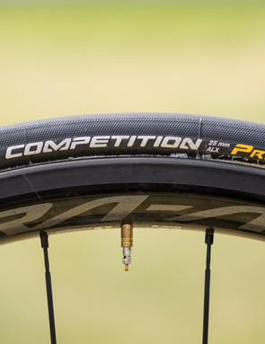 Continental provides Bernal and his Team Sky teammates with tubular tyres to pair with their Shimano wheels