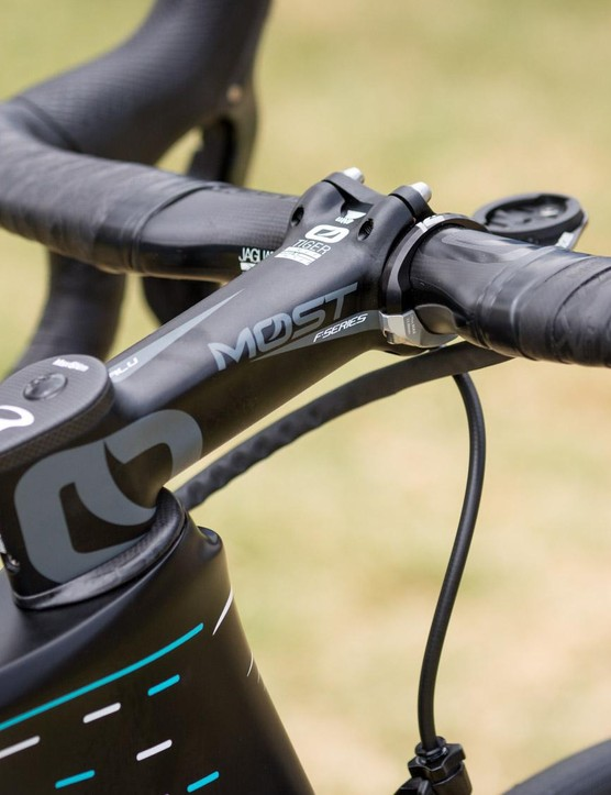 Team Sky have switched from PRO cockpits to Pinarello's MOST brand for 2018