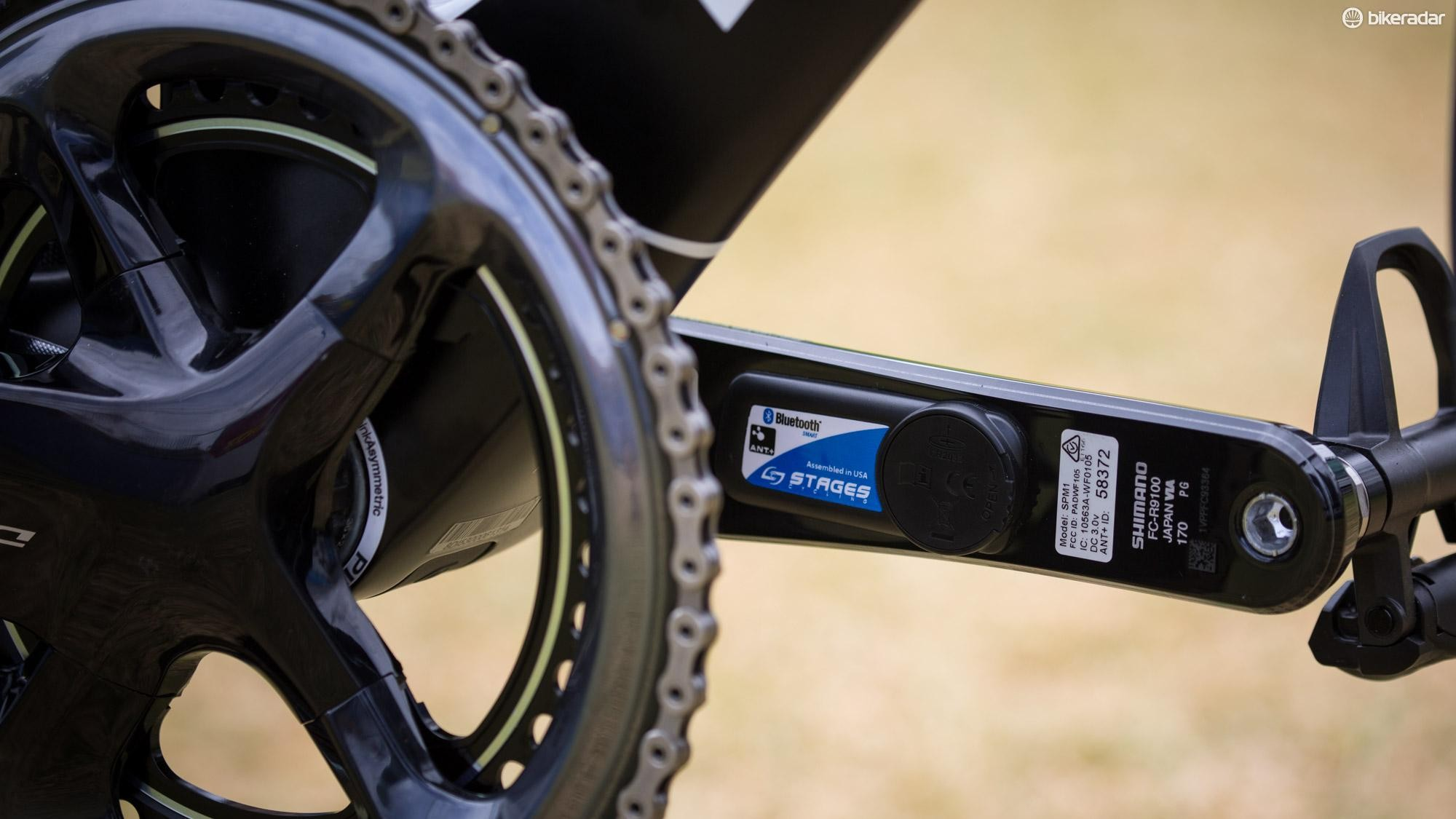 Last month Shimano said it would be providing power meters to Team Sky, however all the team bikes were equipped with Stages meters