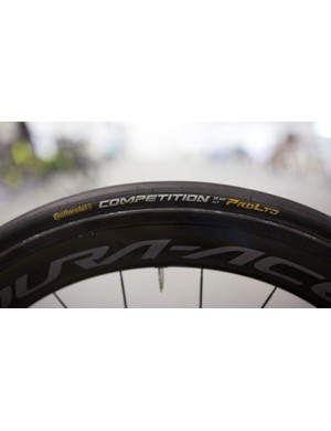 Mitchelton-Scott run Continental Competition ALX tubular tyres