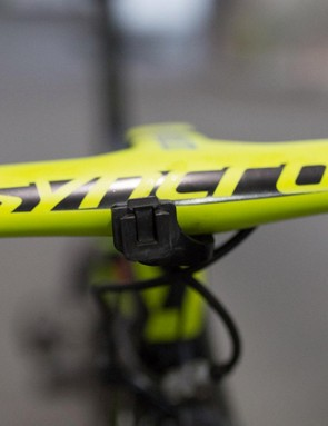 Until Mitchelton-Scott switch to Shimano's power meter the team will be using SRM PC-8 headunits