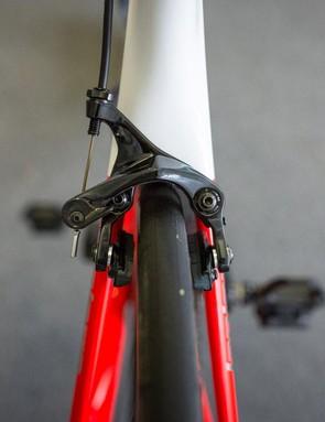A closer look at the rear brake on the Aircode