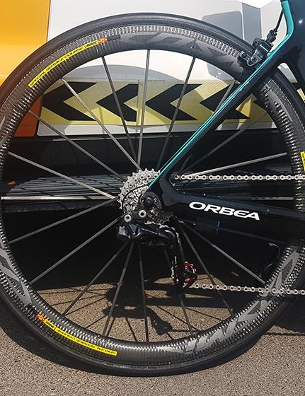 Mavic's Cosmic Ultimate wheels are 40mm deep an optimised for 25mm tyres