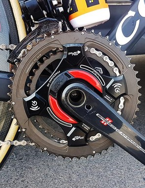 UAE Team Emirates is running Power2Max Type S Campagnolo cranksets