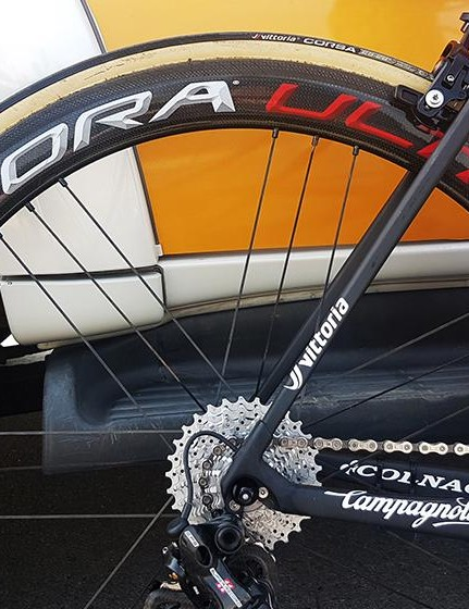 As with the majority of his UAE Team Emirates teammates, Costa runs Campagnolo Bora Ultra 50 carbon wheels