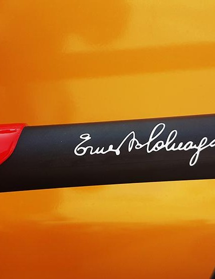 Ernesto Colnago's signature adorns the majority of the Colnago models' top tubes