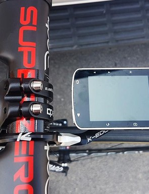 Rui Costa uses a Garmin Edge 520 computer with a K-Edge aluminium out-front mount