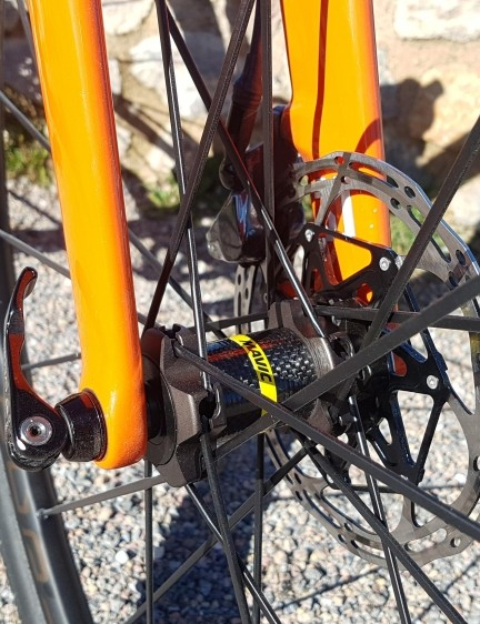 Mavic says its front hubs are adaptable to virtually every axle standard