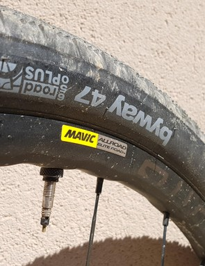 There's now a 650b version of the AllRoad Elite wheelset, so you can run chunkier tyres