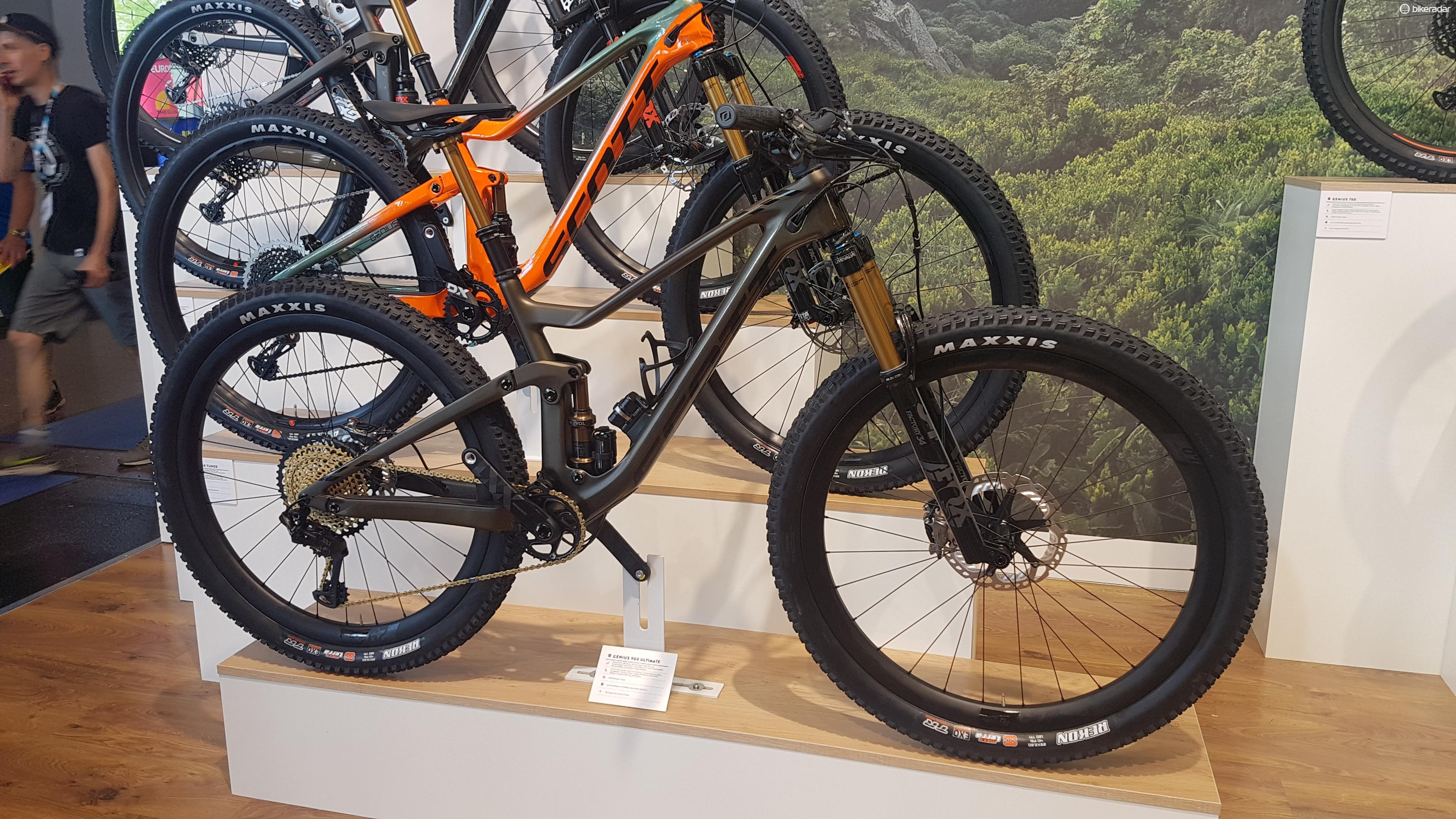 Scott had a Genius at Eurobike with the system installed