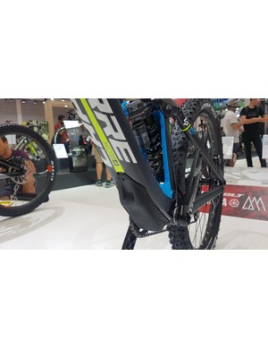 On-bike storage is all the rage these days — Lapierre's version sits below the base of the downtube