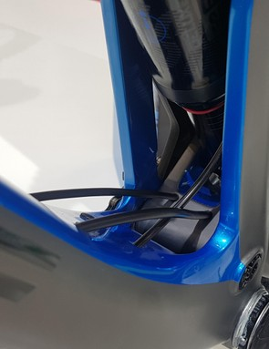 The base of the shock sits on an elongated mount from the chainstays, so the shock 'floats'