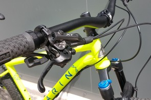 Shimano XT brakes provide the stopping power