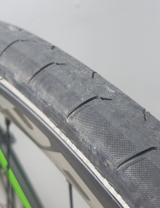 Giant's own tyres have a reflective strip, handy in low-light conditions