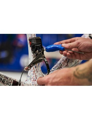 K-Edge provides accessories, including chain catchers, to the Madison-Genesis team