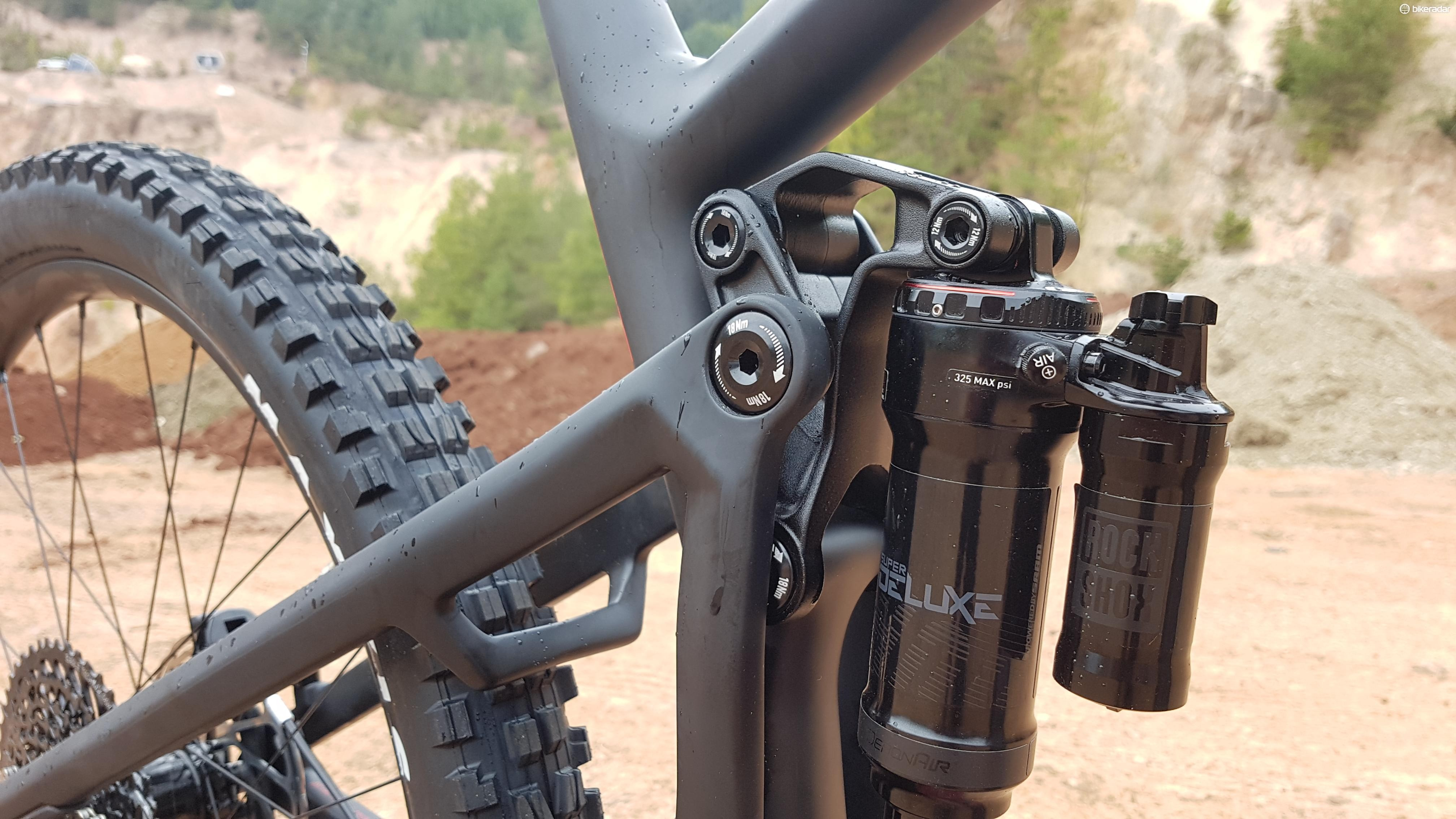 The Main Link and Guide Link are there to manipulate the suspension's kinematic and control the frame's flex