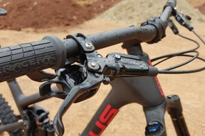 SRAM Guide brakes might seem a little under powered for such a long-travel bike