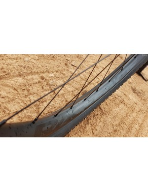Asymmetrical rims from RaceFace theoretically help build a stiffer wheel