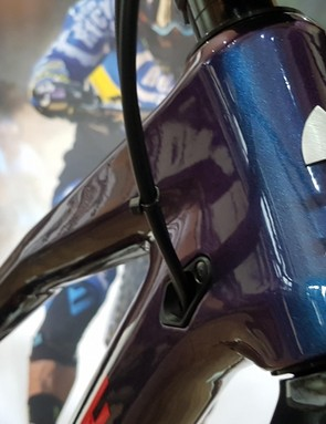 The blueberry blue finish was picked by Sam Hill for the top-level bike after he showed the Nukeproof team the colour he wanted as he ate breakfast post the EWS finale
